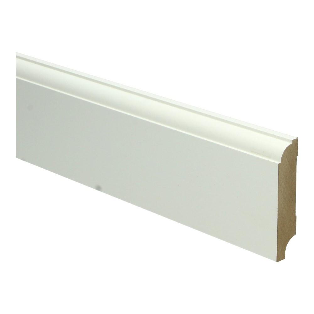MDF Eigentijdse plint 120x15 wit voorgelakt RAL 9010